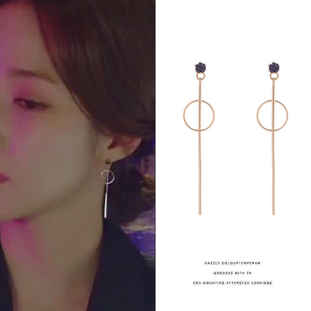 梨花HaNA 韓國朴敏英她的私生活紫鑽圈圈耳環