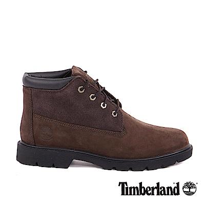 Timberland 男款深咖啡色絨面皮革Icon基本休閒鞋