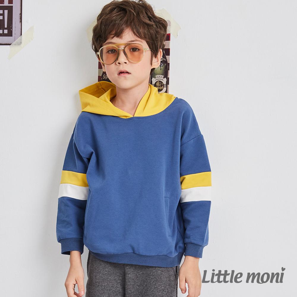 Little moni 連帽拼接上衣(共2色)