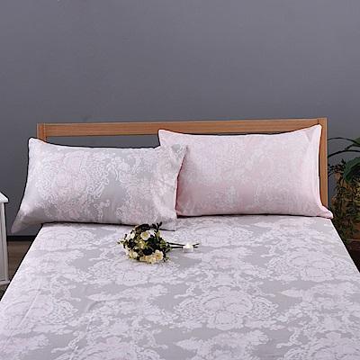 喬曼帝Jumendi-粉戀情語 專利吸濕排汗天絲加大三件式床包組