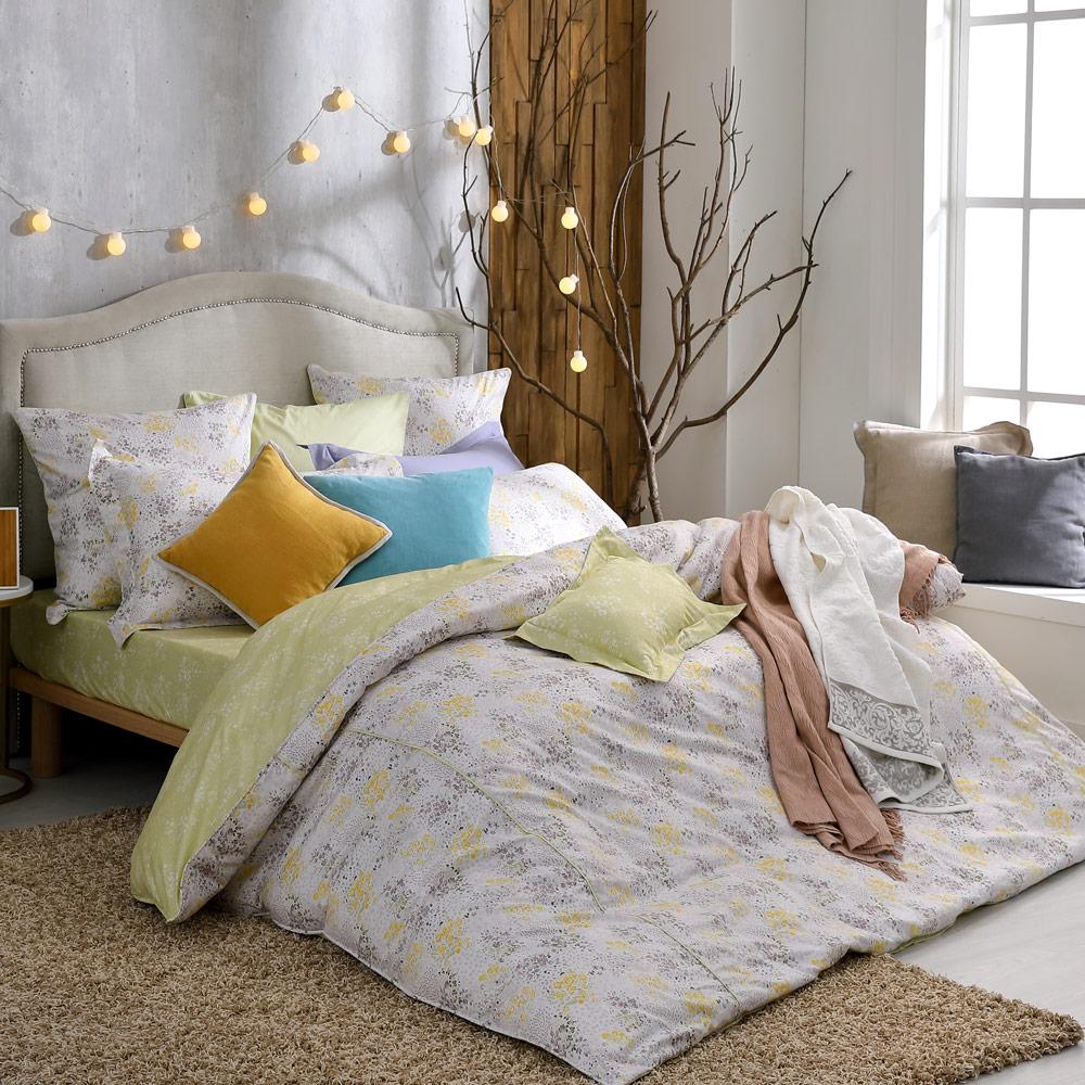 BBL Premium 晨雨花霧100%精梳棉.印花加大兩用被四件式床包組