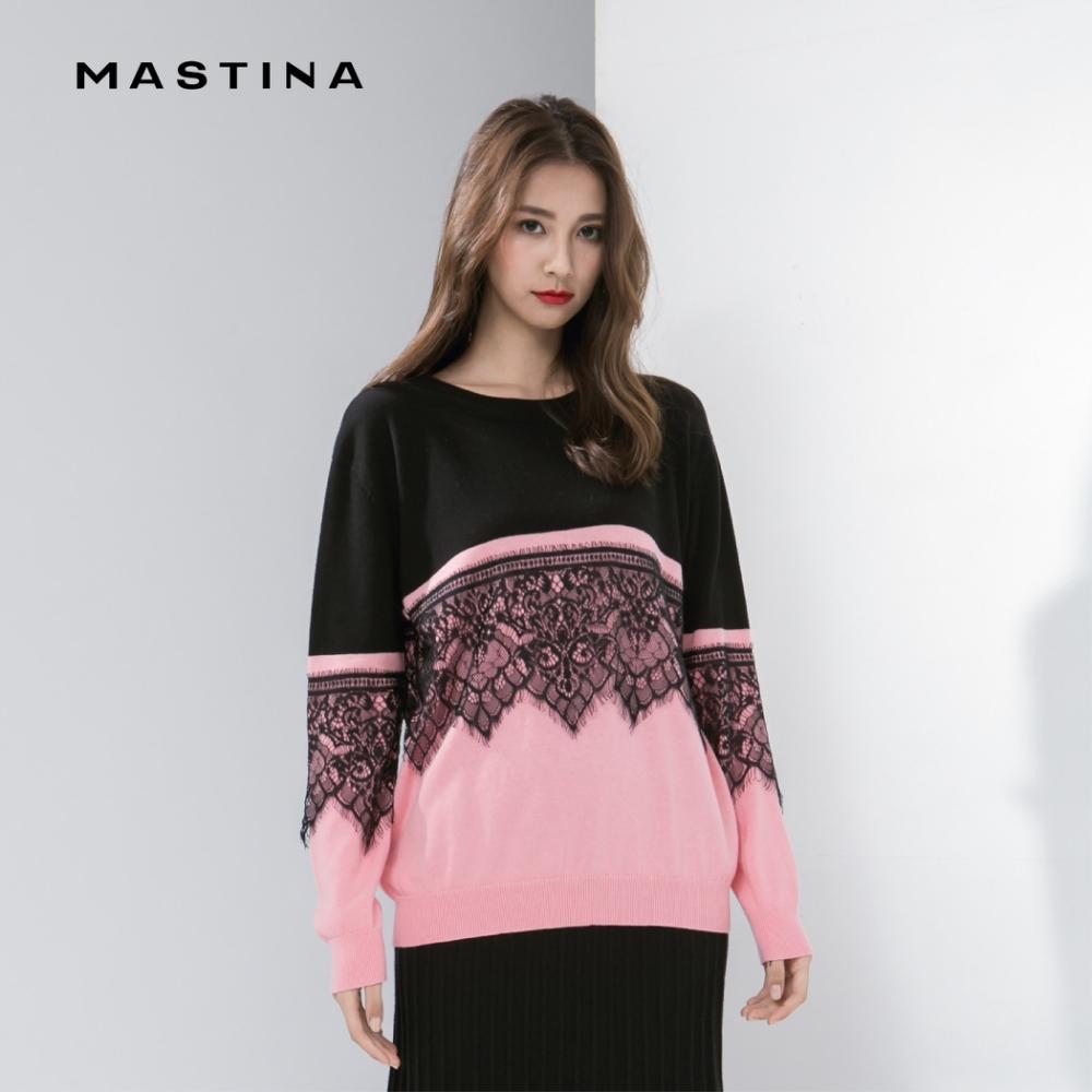 【MASTINA】浪漫蕾絲-針織衫(二色)