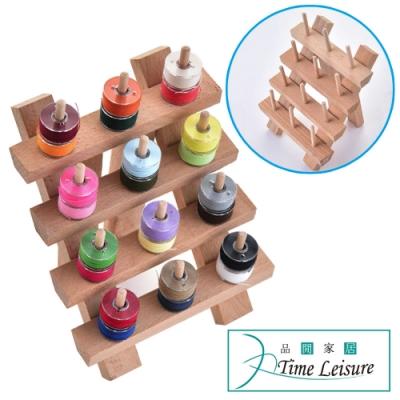 Time Leisure 服裝車縫線捲/線芯/手縫線櫸木收納架