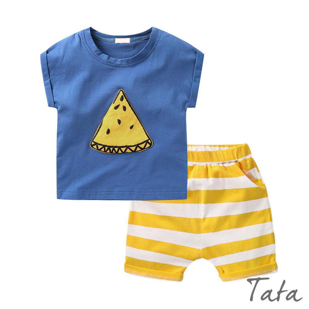 兒童 拼接西瓜鬆緊腰套裝 TATA KIDS