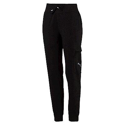 PUMA-女性訓練系列Feel it織帶長褲-黑色-歐規
