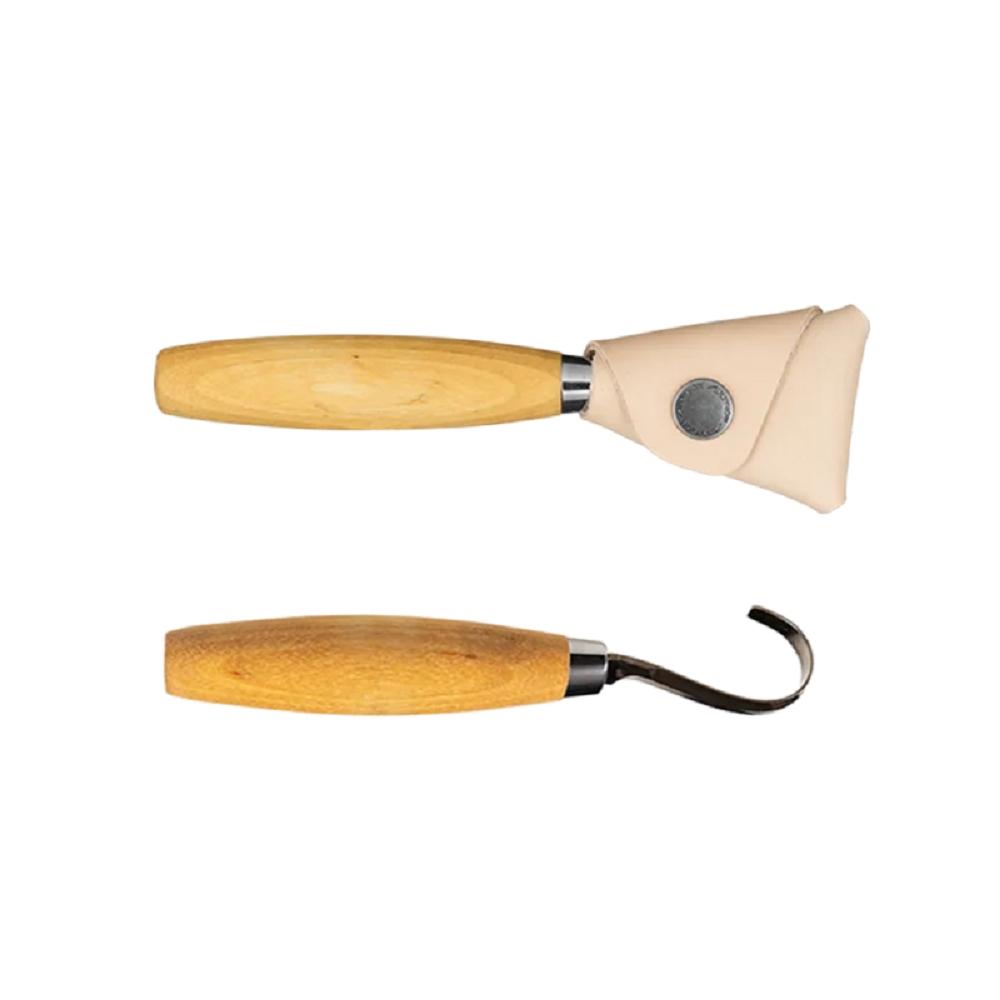 MORAKNIV Hook Knife 164 右手用不鏽鋼彎勾木雕刀 原木色 13385