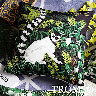 TROMSO 奢華義大利棉麻抱枕-U179尊爵靈猴