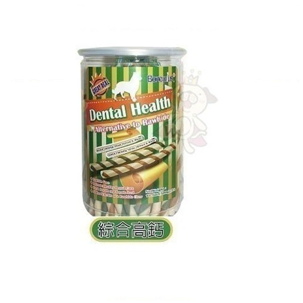 【Bone Plus】《綜合雙色潔牙軟笛酥》500g 罐裝【2罐入】
