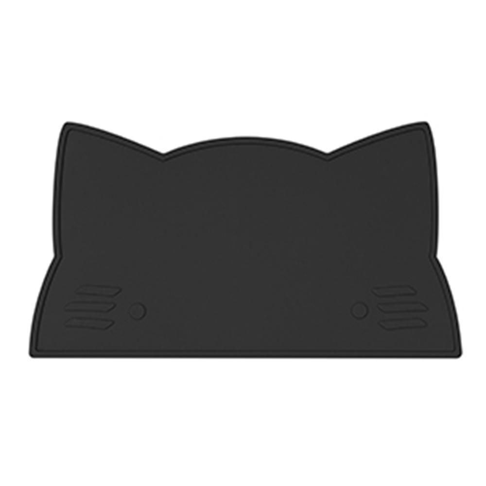 澳洲We Might Be Tiny 矽膠防滑餐墊小花貓-時尚黑