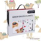美國 Bebe Au Lait 天絲棉紗布嬰兒包巾2入禮盒 (多種款式)
