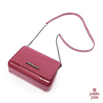 Petite Jolie--時尚名媛果凍鍊帶肩背包-胭脂紅