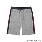 GIORDANO 男裝G-MOTION織帶設計針織短褲-41 雪花鯊魚皮灰