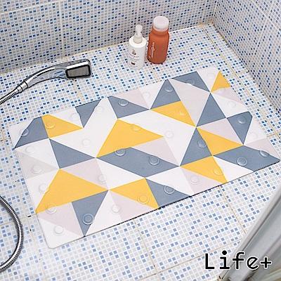 Life Plus 悠然時光浴室吸盤防滑地墊/腳踏墊 (幾何)