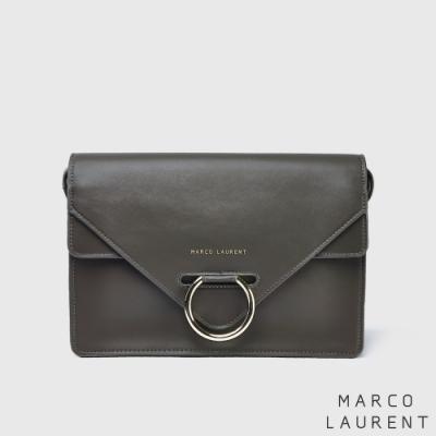 MARCO LAURENT Ring 環扣雙層肩背方包 -灰色