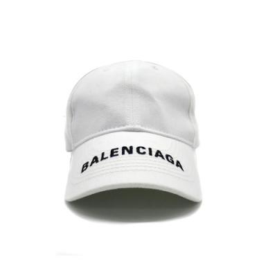 BALENCIAGA 品牌字母刺繡LOGO白色鴨舌帽