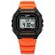 CASIO 卡西歐 復古計時橡膠手錶-橘色W-218H-4B2 42mm product thumbnail 1