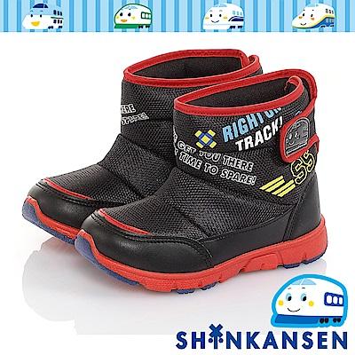 三麗鷗-新幹線 保暖輕量減壓抗菌防臭高筒童靴童鞋-黑