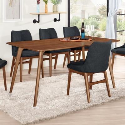 Boden-馬波5.3尺胡桃色餐桌/長桌/工作桌/會議桌-160x90x76cm