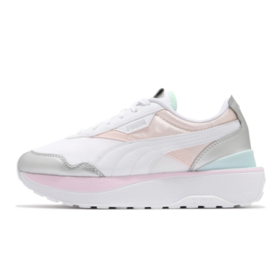 PUMA Cruise Rider Chrome Wns 女 休閒鞋 厚底 白銀-38050003