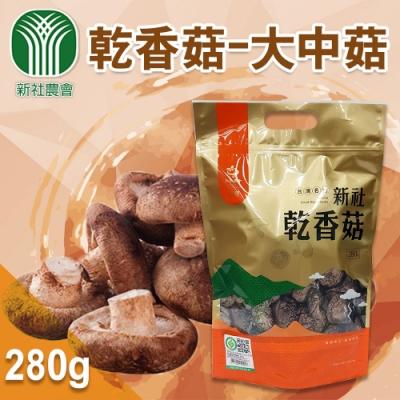 【新社農會】乾香菇-大中菇  (280g / 包  x2包)