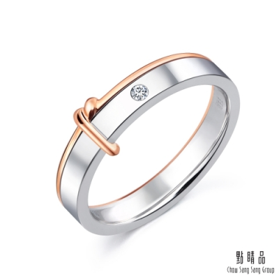 點睛品 Promessa 同心結 18K金鑽石結婚戒指-女戒(林宥嘉夫妻代言款)