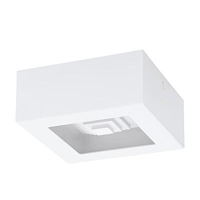 EGLO歐風燈飾 時尚白LED方型吸頂燈