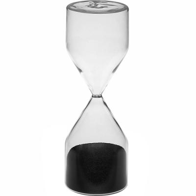 《VERSA》5分鐘柱型玻璃沙漏(黑)