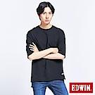 EDWIN EFS厚挺寬版 短袖T恤-男-黑色
