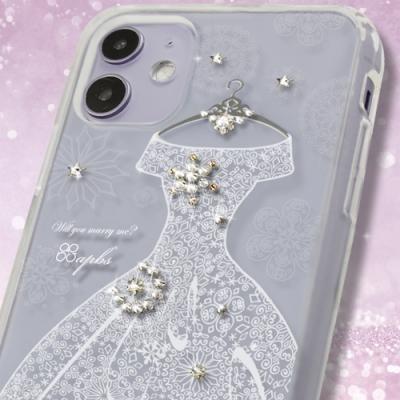 apbs iPhone全系列施華彩鑽防震雙料手機殼-禮服奢華版