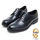 AMBER經典系列漸層素面真皮紳士鞋皮鞋-黑色