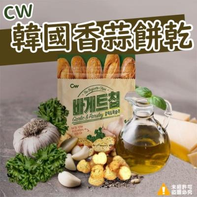 (任選)極鮮配 韓國CW超大包大蒜麵包餅乾