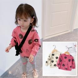 小衣衫童裝 兒童圓領滿版趣味動物印花長袖T恤1080947