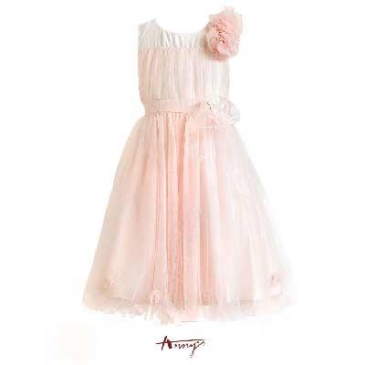 Annys夢幻系粉嫩緞紗鑽石大玫瑰禮服*6106粉