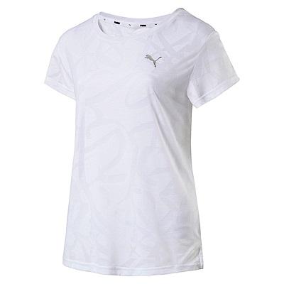 PUMA-女性基本系列URBAN塗鴉短袖T恤-白色-亞規