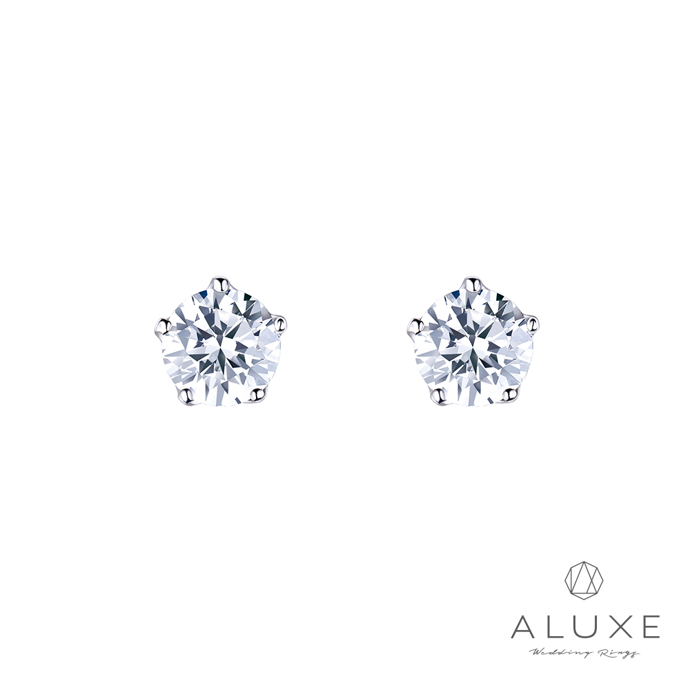 ALUXE 亞立詩 18K金 主鑽總重0.60克拉 鑽石耳環