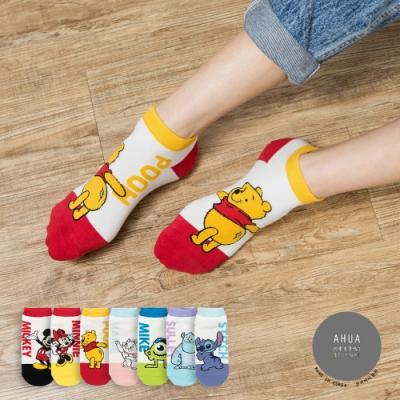 阿華有事嗎  韓國襪子 全身側邊文字迪士尼短襪  韓妞必備 正韓百搭純棉襪