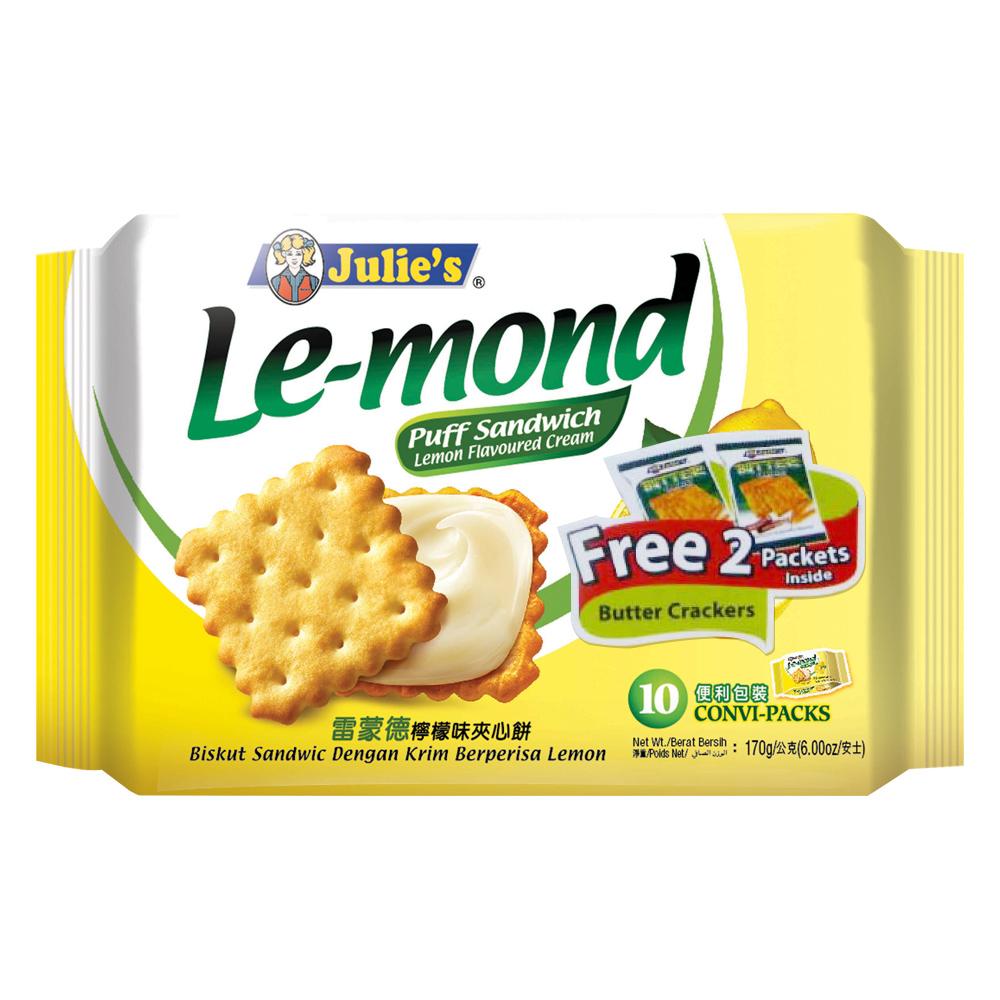 Julies茱蒂絲 雷蒙德檸檬夾心餅加贈奶油蘇打(170g+33g) @ Y!購物
