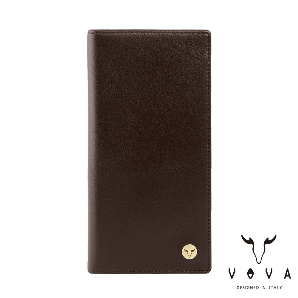 VOVA 費城系列12卡長夾-煙草棕