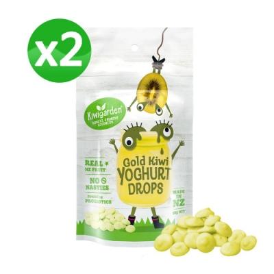 【紐西蘭 Kiwigarden】益菌優格豆 黃金奇異果 x兩袋組(兒童餅乾球/高鈣)