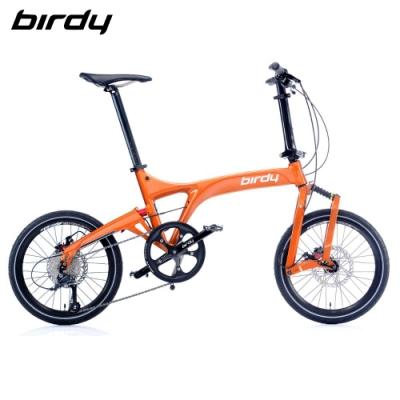 New Birdy(Ⅲ) Standard 9速18吋前後避震縱向折疊車-閃耀橘
