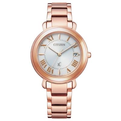 CITIZEN xC光動能華麗優雅氣質腕錶-玫瑰金(EO1202-57A)33mm