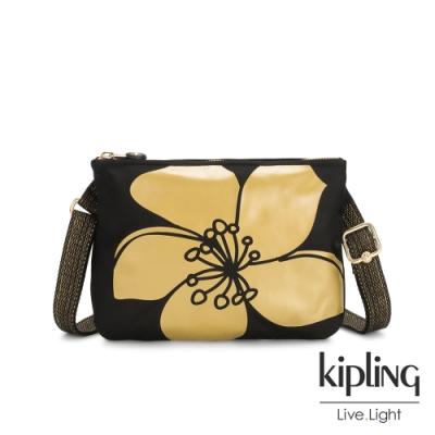 Kipling 黑底金枝桃花的綻放側背方便小包-MAI POUCH