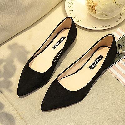 韓國KW美鞋館 破盤價簡約平底鞋-黑色