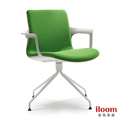【iloom怡倫】 Ega Lux設計師系列人體工學時尚辦公椅 (森林綠)