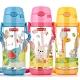 【優貝選】費雪 可愛動物 兒童背帶水壺 吸管水壺 550ML product thumbnail 1