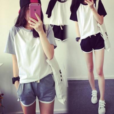 【韓國K.W.】(預購) 韓時尚甜美舒適套裝褲(共2色)