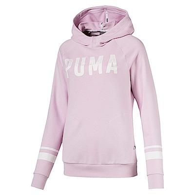 PUMA-女性基本系列Athletic長厚連帽T恤-活力粉紫-亞規
