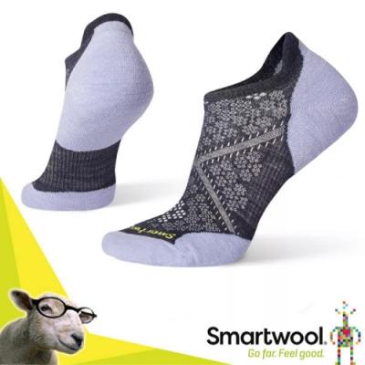 SmartWool 美國製造 美麗諾羊毛 PhD Elite 無筒輕薄羊毛跑步襪(2入)/戶外襪.排汗襪.休閒襪_深藍/霧紫