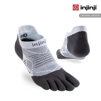 【INJINJI】RUN 吸排五趾隱形襪[灰色]