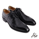 A.S.O 職場通勤勁步健康刷色工藝德比紳士鞋-黑 product thumbnail 1